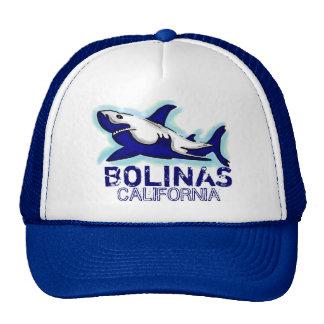 Gorra del tema del tiburón azul de Bolinas Califor