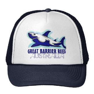 Gorra del tema del tiburón azul de la gran barrera