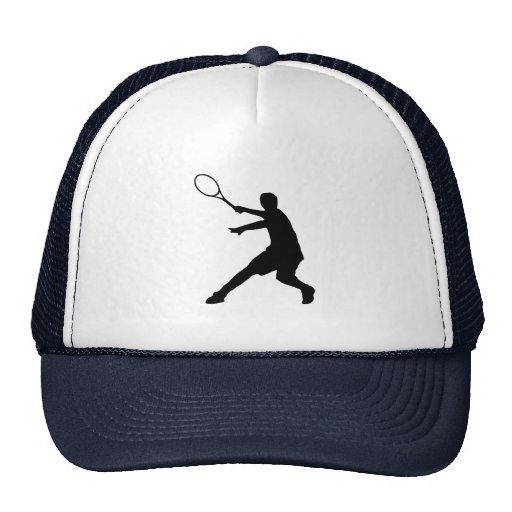 Gorra del tenis con símbolo de la silueta del juga