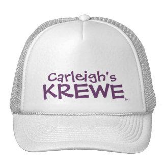 Gorra del texto de Krewe de Carleigh