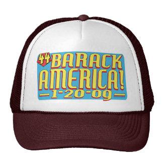 Gorra del texto de la Casa Blanca de Barack Améric