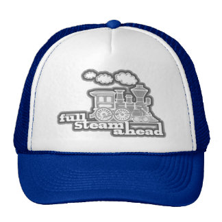 gorra del tren del loco del vapor lleno a continu