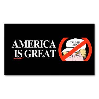Gorra del triunfo - América ES grande - - .png Tarjetas De Visita Magnéticas (paquete De 25)