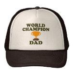 Gorra del trofeo del papá del campeón del mundo