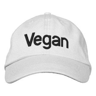 Gorra del vegano para la venta gorra de béisbol bordada