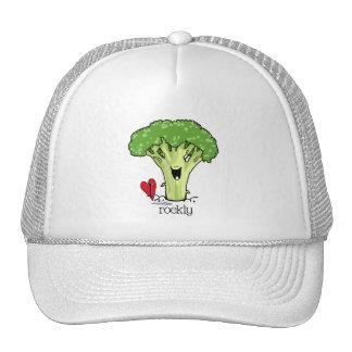 Gorra del veggie del dibujo animado del bróculi