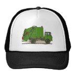 Gorra del verde del camión de basura