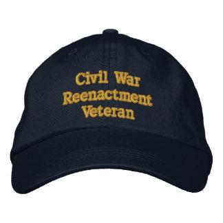 Gorra del veterano de la reconstrucción de la gorra de béisbol bordada