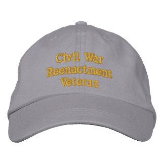 Gorra del veterano de la reconstrucción de la gorras de beisbol bordadas