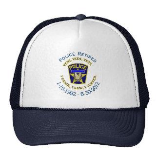 Gorra del VVV del policía jubilado