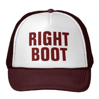Gorra derecho del camionero de la bota