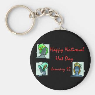 Gorra día 15 de enero nacional llavero redondo tipo pin