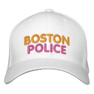 Gorra divertido bordado policía de Boston Gorro Bordado