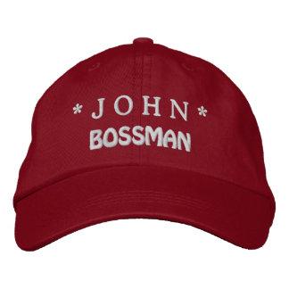 Gorra divertido de BOSS Bossman con el nombre de Gorra Bordada