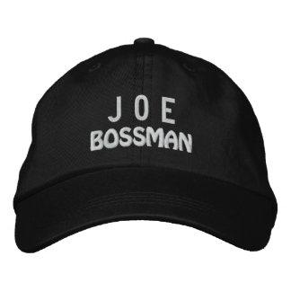 Gorra divertido de BOSS Bossman con el nombre de Gorra De Beisbol