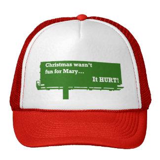 Gorra divertido de la cartelera del navidad