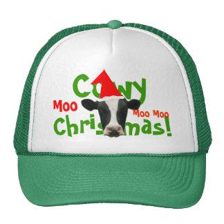 Gorra divertido de la vaca de Santa del navidad de