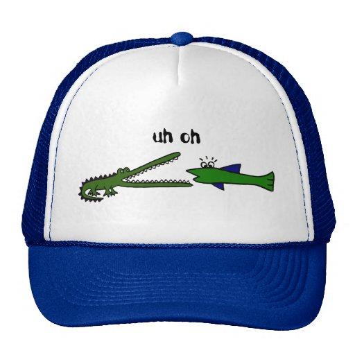Gorra divertido de los pescados AF y del cocodrilo
