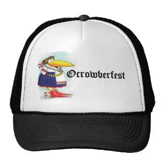 Gorra divertido del cuervo de Oktoberfest