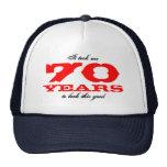 Gorra divertido del cumpleaños para 70 años