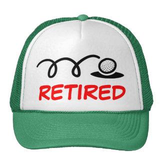 Gorra divertido del golf para los hombres jubilado