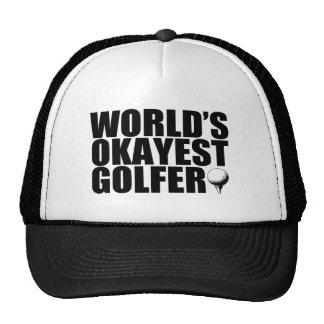 Gorra divertido del golfista de Okayest del mundo
