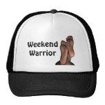 Gorra divertido del guerrero del fin de semana