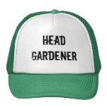 Gorra divertido del jardinero principal