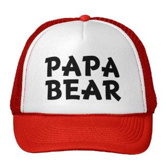 Gorra divertido del oso de la papá