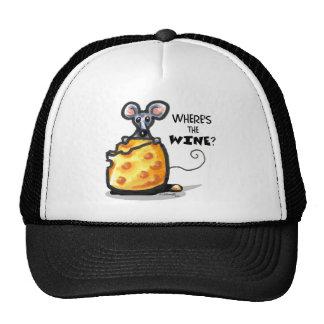 Gorra divertido del ratón del vino y del queso
