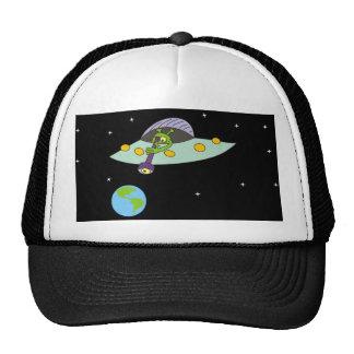 Gorra divertido del UFO y de la tierra