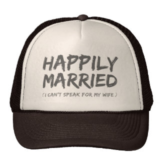 Gorra divertido feliz casado