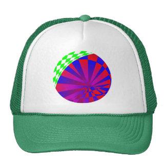 Gorra doblado de las dimensiones