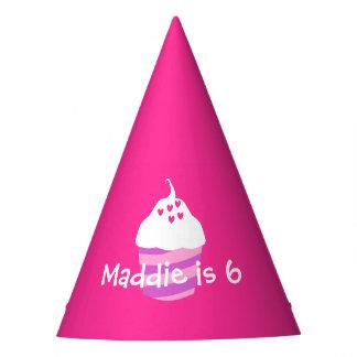 Gorra dulce de la fiesta de cumpleaños del rosa de gorro de fiesta