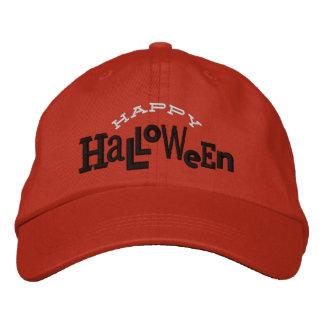 Gorra ecléctico del bordado de Halloween del feliz Gorra De Béisbol