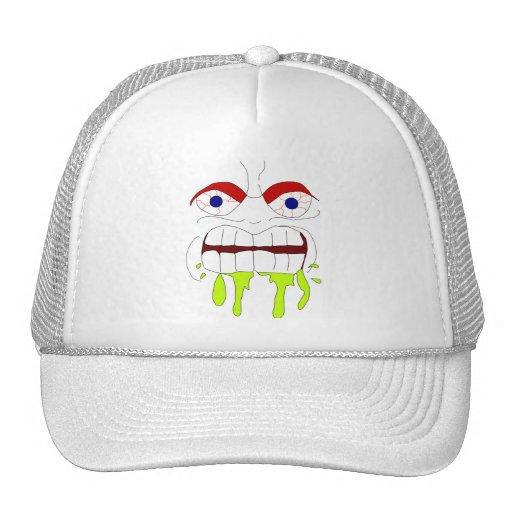 Gorra enojado enojado de la cara