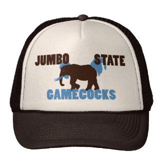 Gorra enorme de los gallos de pelea del estado