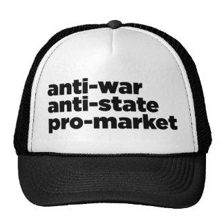Gorra escrito con guión libertario