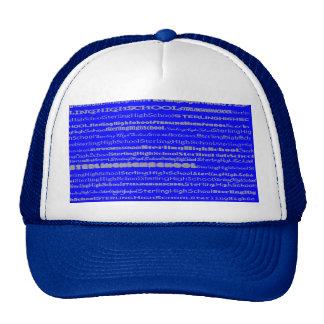 Gorra esterlina del diseño II del texto de la High