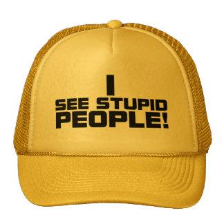 Gorra estúpido de la gente