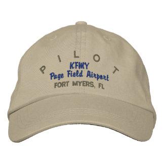 Gorra experimental del personalizado del aviador gorra de beisbol bordada
