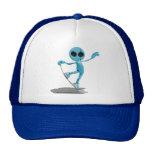 Gorra extranjero azul de la snowboard
