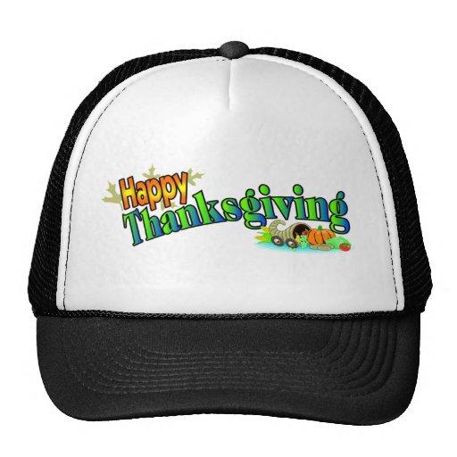 Gorra feliz de la acción de gracias