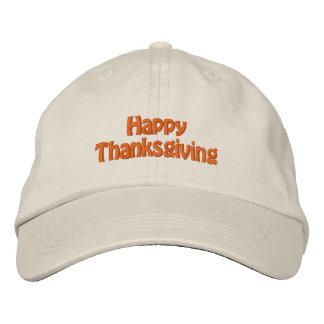 Gorra feliz de la acción de gracias gorras bordadas