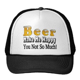 Gorra feliz de la cerveza