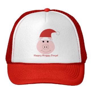 Gorra feliz de la lona del navidad de los días de