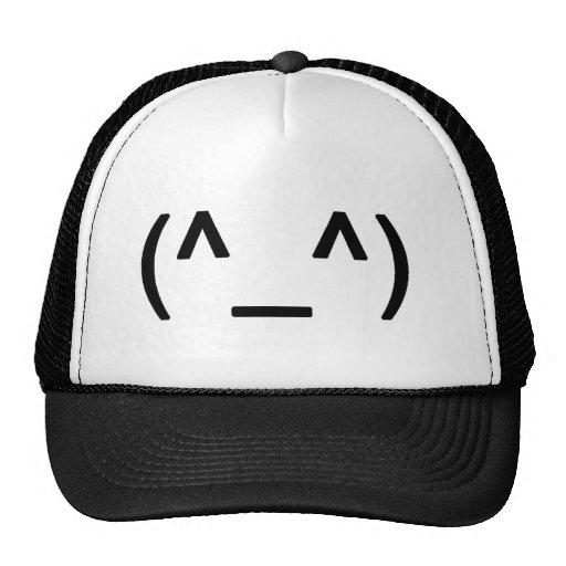 Gorra feliz del camionero de la cara