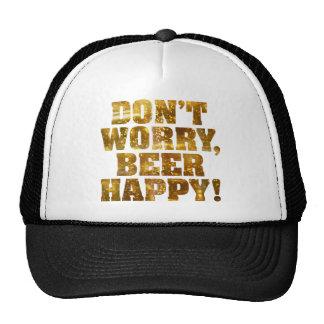 Gorra feliz del camionero de la cerveza