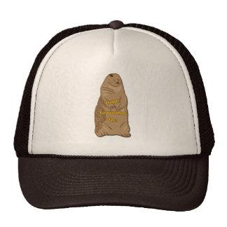 Gorra feliz del día de la marmota
