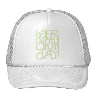 Gorra feliz del verde del día del nacimiento